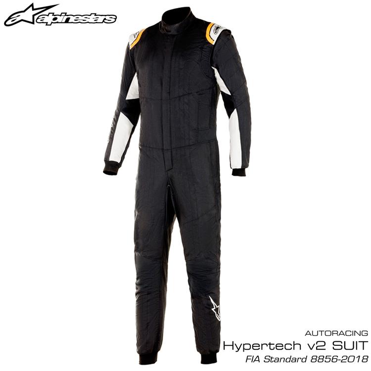 2020NEWモデル アルパインスターズ HYPERTECH v2 SUIT ブラック×ホワイト×オレンジ (1241) レーシングスーツ FIA8856-2018公認モデル AUTO RACING SUIT (3350220-1241)