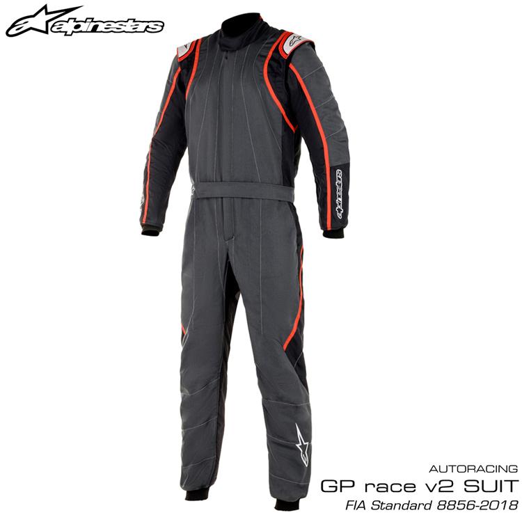 2020NEWモデル アルパインスターズ GP RACE v2 SUIT アンスラサイト×ブラック×レッド(1431) レーシングスーツ FIA8856-2018公認モデル AUTO RACING SUIT (3355020-1431)