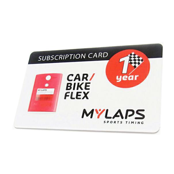 MYLAPS FLEX(フレックス)専用 ライセンスカード 1年間有効 for CAR & BIKE用 1点