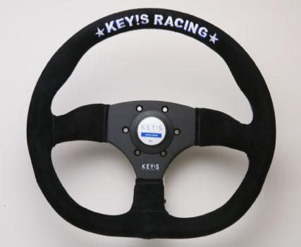 KEY!S Racing Steering オリジナル ステアリング D-シェイプ タイプ (NARDIピッチ)