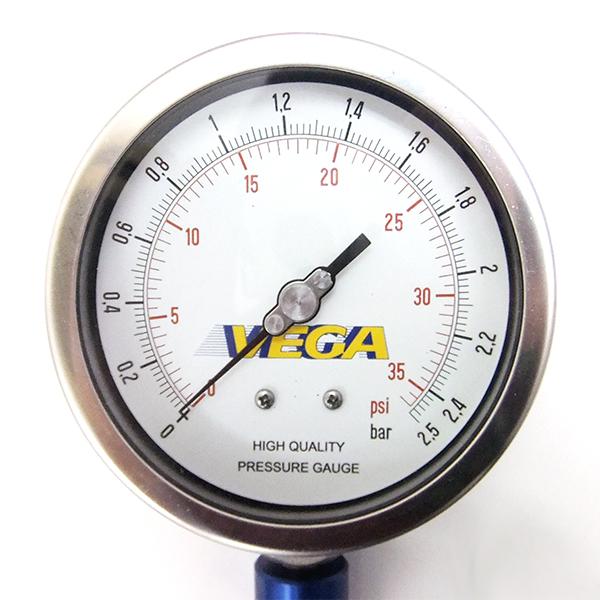 織女星空氣規直徑輪胎壓力錶 (帶閥) 95 毫米