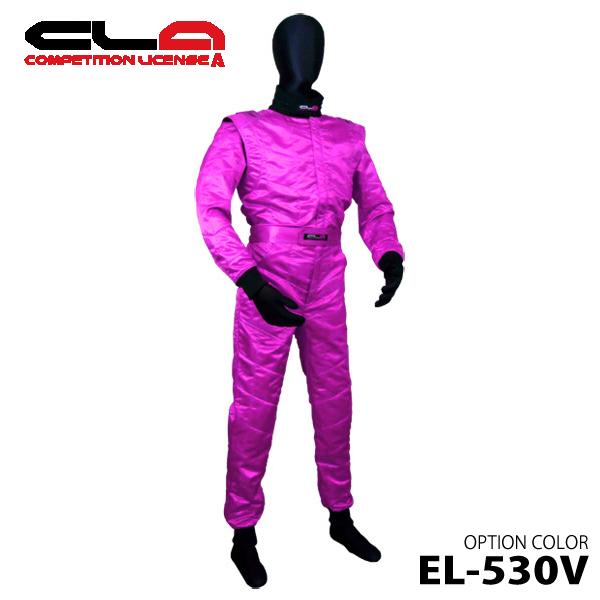 CLA レーシングスーツ LE-530V ピンク レディースサイズ シャイニング生地 レーシングカート・スポーツ走行用 / 受注生産品につき納期約1-2ヶ月