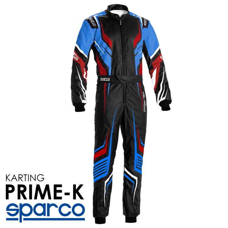 2020NEWモデル SPARCO スパルコ レーシングスーツ PRIME-K ブラック×ブルー レーシングカート・走行会用モデル CIK-FIA Level2/N/2013-1公認 (002307_NRRS)