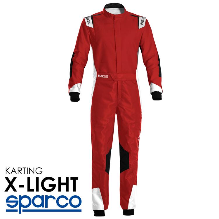 2020NEWモデル SPARCO スパルコ レーシングスーツ X-LIGHT KART レッド レーシングカート・走行会用モデル CIK-FIA Level2/N/2013-1公認 (002339_RBNR)