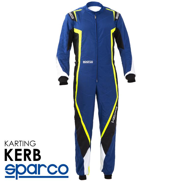 2020NEWモデル SPARCO スパルコ レーシングスーツ KARB KART ブルー×イエロー レーシングカート・走行会用モデル CIK-FIA Level2/N/2013-1公認 (002341BNGB_)