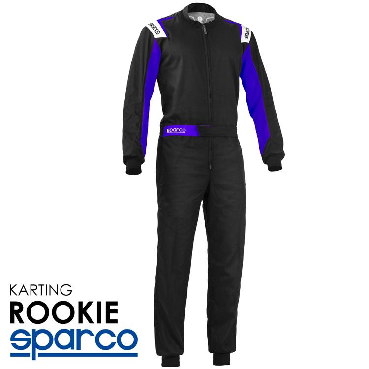 2020NEWモデル SPARCO スパルコ レーシングスーツ ROOKIE ブラック×ブルー レーシングカート・走行会用モデル (002343NREB_)