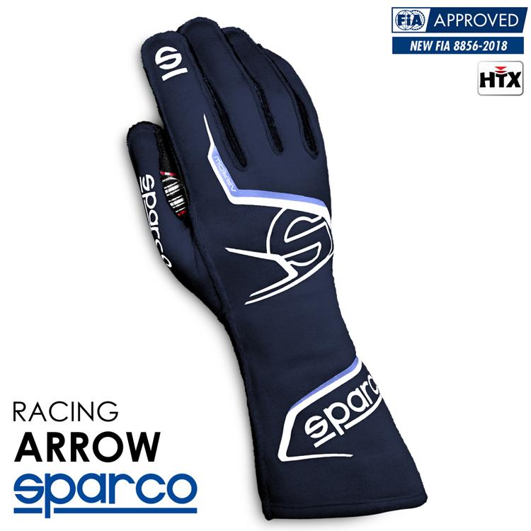 2020NEWモデル SPARCO スパルコ レーシンググローブ ARROW (アロー) ネイビーブルー FIA8856-2018公認 (001314_BMBI)