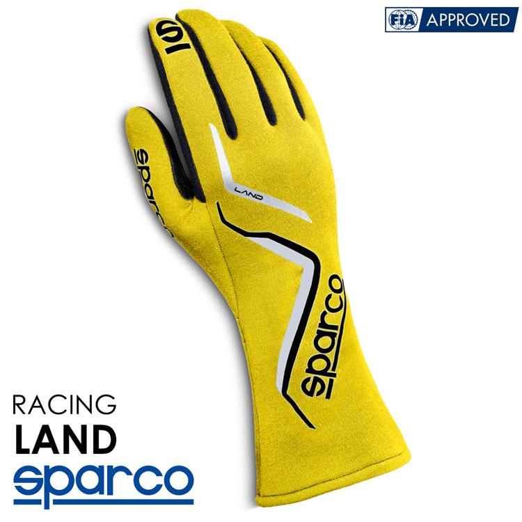 2020NEWモデル SPARCO スパルコ レーシンググローブ LAND (ランド) イエロー FIA8856-2000公認 (001357_GF)
