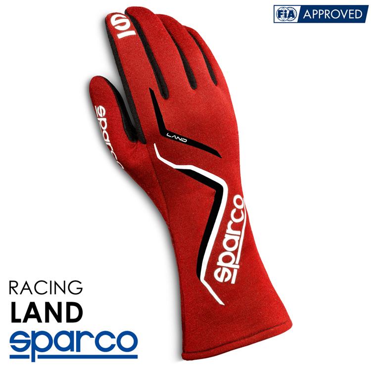 2020NEWモデル SPARCO スパルコ レーシンググローブ LAND (ランド) レッド FIA8856-2000公認 (001357_RS)