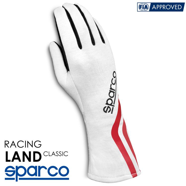 2020NEWモデル SPARCO スパルコ レーシンググローブ LAND CLASSIC エクルーホワイト FIA8856-2000公認 (001358_ECRS)