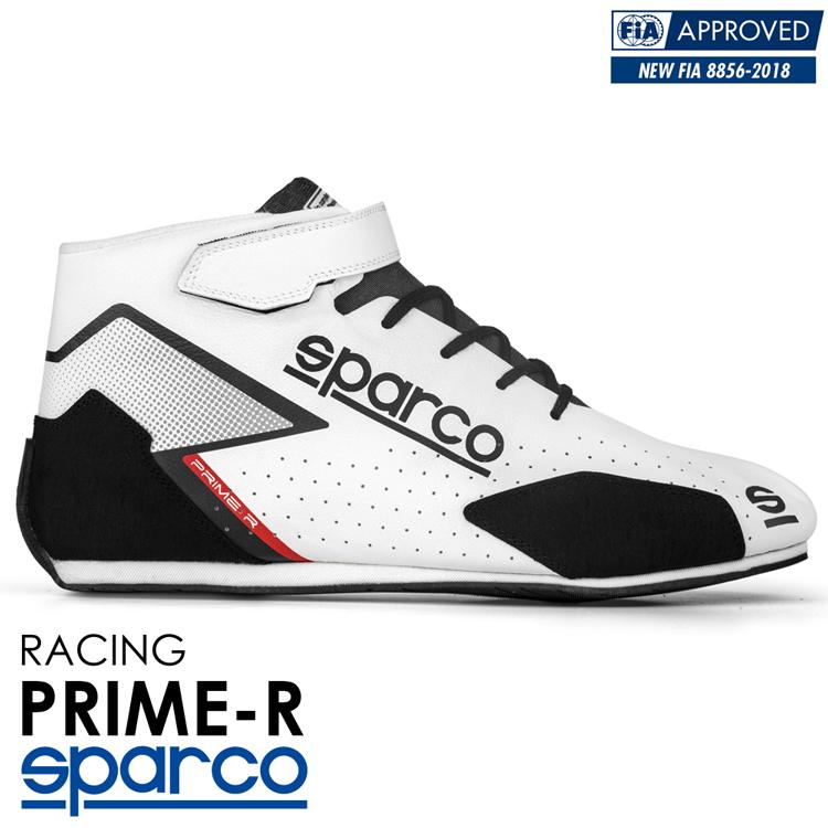 2020NEWモデル SPARCO スパルコ レーシングシューズ PRIME-R (プライム) ホワイト FIA8856-2018公認 (001282_BI)