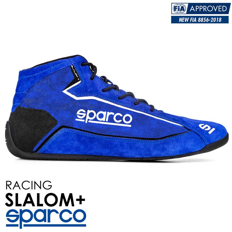 2020NEWモデル SPARCO スパルコ レーシングシューズ SLALOM+ (スラローム・プラス) ブルー FIA8856-2018公認 (001274_BRFX)