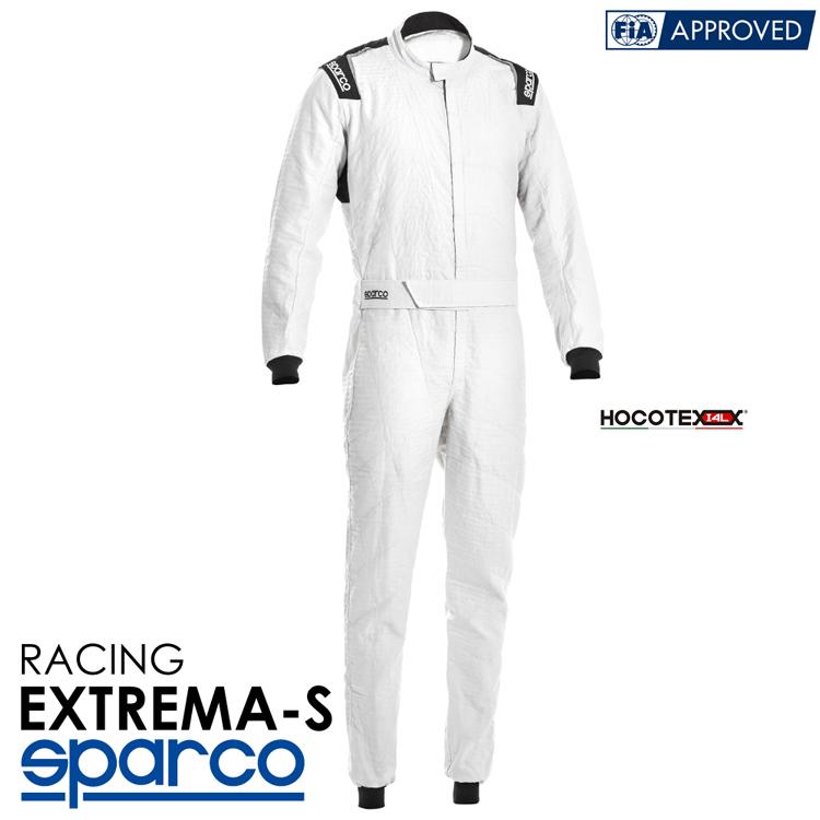 2020NEWモデル SPARCO スパルコ レーシングスーツ EXTREMA-S (エクストリーマ) R542 ホワイト FIA公認8856-2000 (001151H_BI)