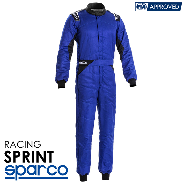 2020NEWモデル SPARCO スパルコ レーシングスーツ SPRINT (スプリント) R548 ブルー FIA公認8856-2000 (001092..BELNR)