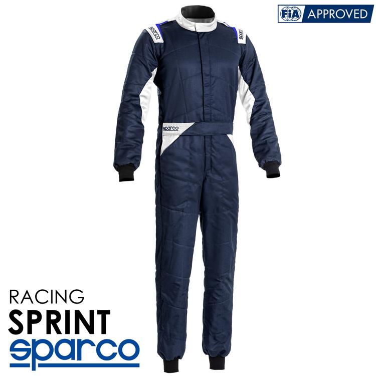 2020NEWモデル SPARCO スパルコ レーシングスーツ SPRINT (スプリント) R548 ネイビーブルー FIA公認8856-2000 (001092..BMBI)