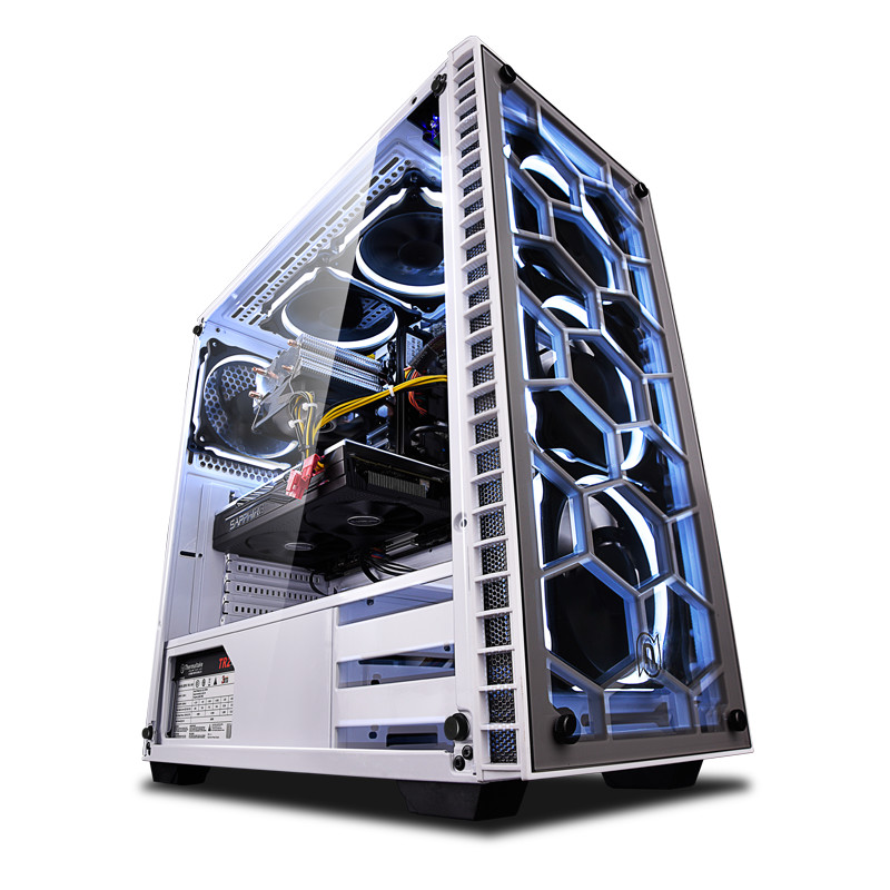 新品 NINGMEI ゲーミング PC デスクトップ パソコン ホワイト【Core i5 9400F / GTX1650 / メモリ8GB / SSD256GB / HHD1TB / Windows10 Home】