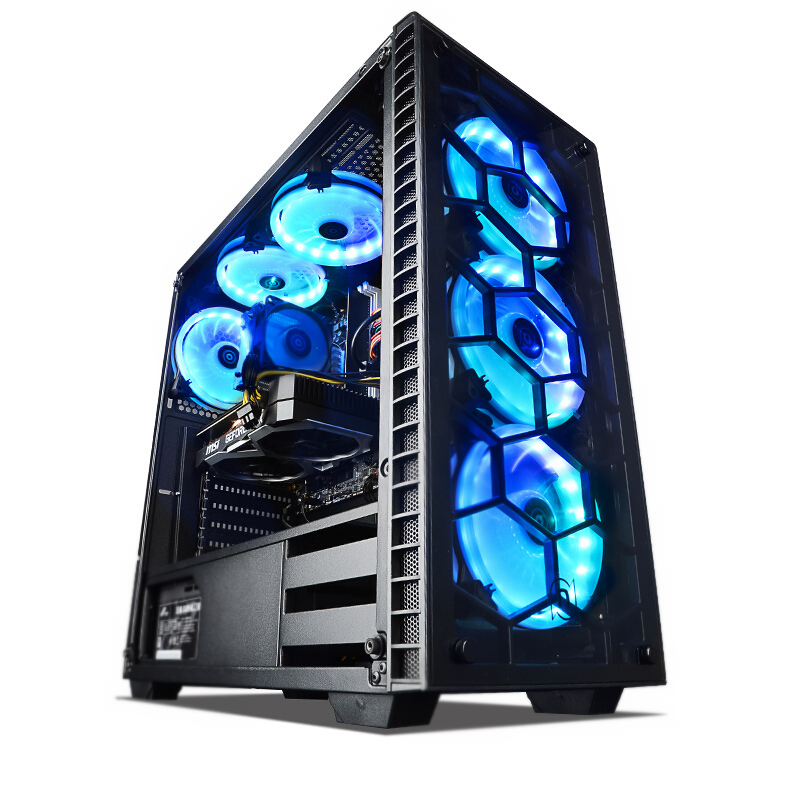 新品 NINGMEI ゲーミング PC デスクトップ パソコン ブラック【Core i5 9400F / GTX1650 / メモリ8GB / SSD256GB / HHD1TB / Windows10 Home】