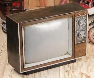 置物 レトロテレビ アンティーク風 ブリキ製