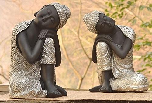 置物 しなやかに座る 立て膝のお釈迦様 東南アジア風 2体セット