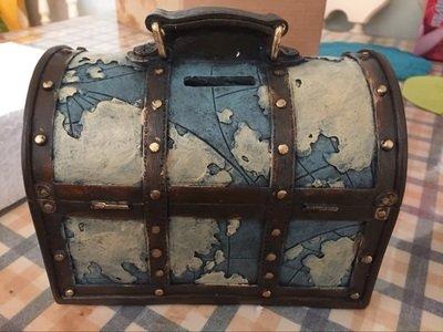 f7def78a1a 楽天市場】オブジェ 貯金箱 ビンテージ風 トランク 旅行バッグ (ブルー ...