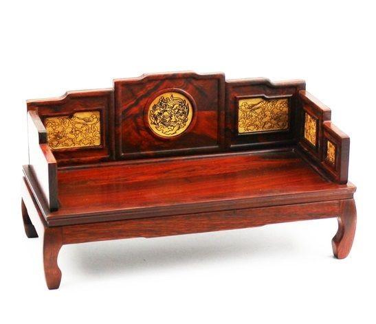 中国風 木製 木彫り ミニチュア家具 置物 屏風
