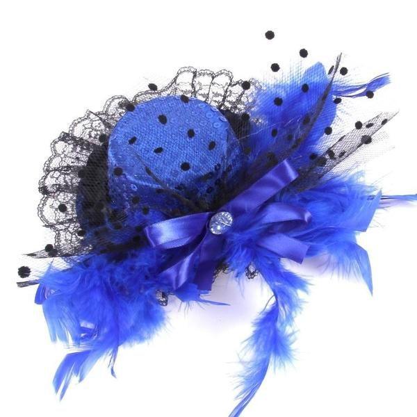 おしゃれ かわいい ヘアピン アクセサリー 貴婦人風 帽子 髪飾り 割り引き ヘアクリップ 2個セット 子供用 レース 安心の実績 高価 買取 強化中 ハット 羽根付き ピンク ブルー
