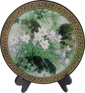 置物 金福木炭の油絵皿
