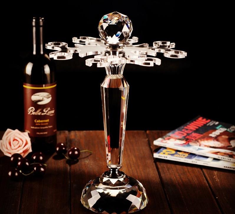 ワイングラススタンド カットガラス クリスタル風 8個掛用