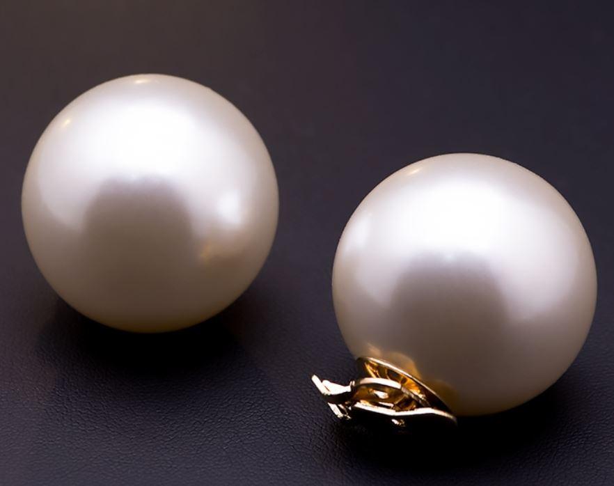 おしゃれでかわいい シューズ用アクセサリー メーカー直送 新作多数 真珠風 華やか 大きなパール風モチーフ シューズクリップ ホワイト 2個セット