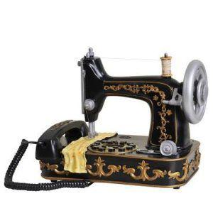 置物 電話機 電話器 アンティーク風 ミシン