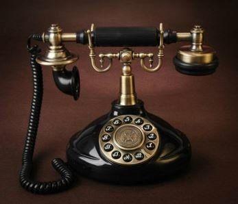 置物 電話機 電話器 クラシック 欧風 (ブラック)