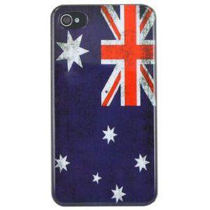 オーストラリア国旗がデザインされた存在感抜群のケース 在庫処分 iPhone4 4S ケース オーストラリア 国旗 レトロ お得セット 送料無料 店