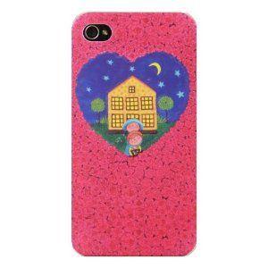個性的なアートなiPhoneケース 通販 激安◆ 在庫処分 iPhone4 4S ケース Jimmyイラスト かわいい お気に入り 愛のある家 送料無料