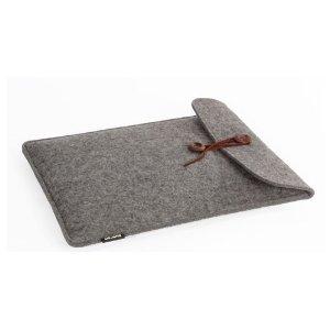 MacBook Pro ケース 羊毛フェルト 15インチ 縦 (グレー)