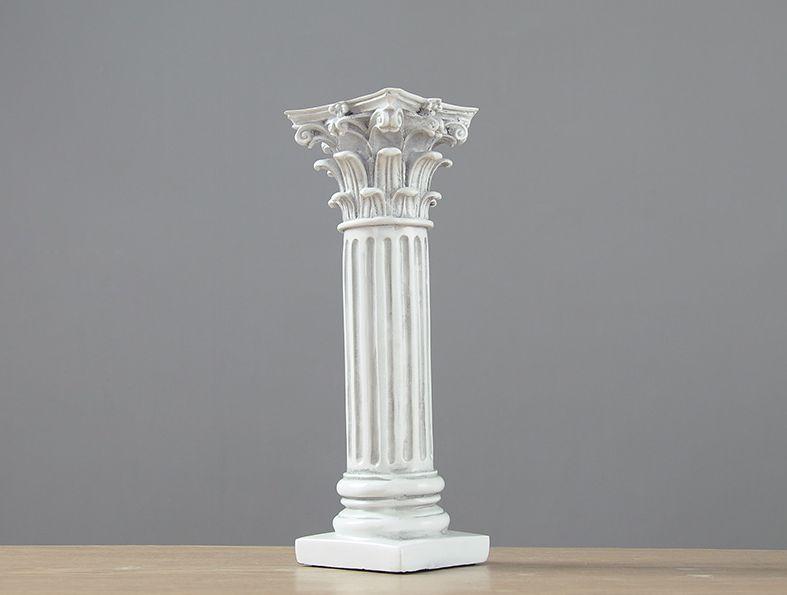 おしゃれ 古代ローマ パルテノン神殿風 オブジェ インテリア 置物 神殿の柱モチーフ 古代ギリシャ様式 石膏柱風 アンティーク調