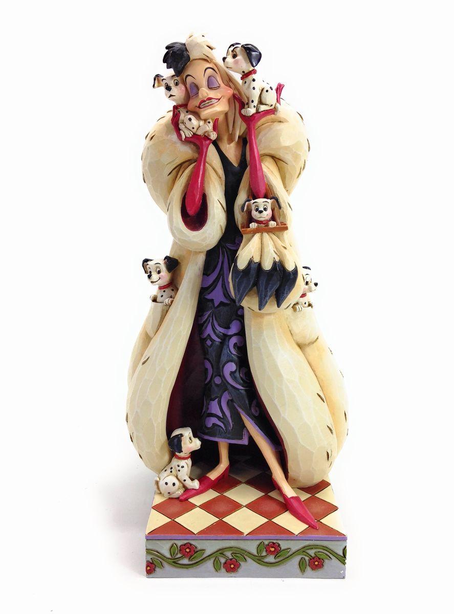 【並行輸入品】フィギュア 置物 クルエラ・ド・ヴィル 101匹わんちゃん【Disney Traditions】4023534 Cruella