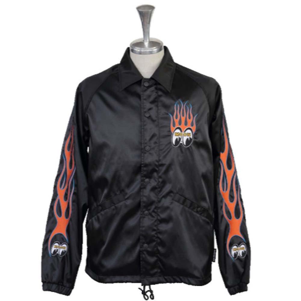 【送料無料】ムーンアイズ(MOONEYES)★コーチジャケット COACH JACKET ブラック L OMJ-017