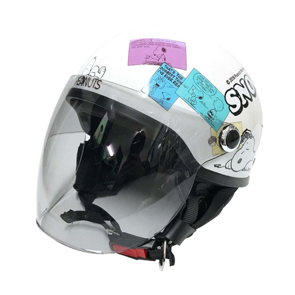 【送料無料】アークス(AXS)★スヌーピー SNOOPYハーフ コミック2 125cc以下のバイク専用 サイズ57cm-59cm SNH-70