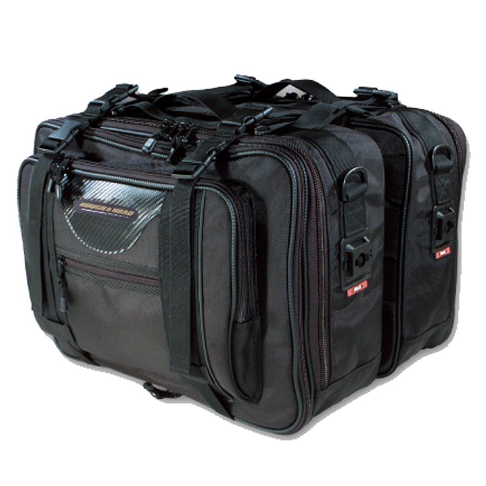 【送料無料】ラフ&ロード★容量アップ可能 ロードサイドバッグ G-ブラック RR5632