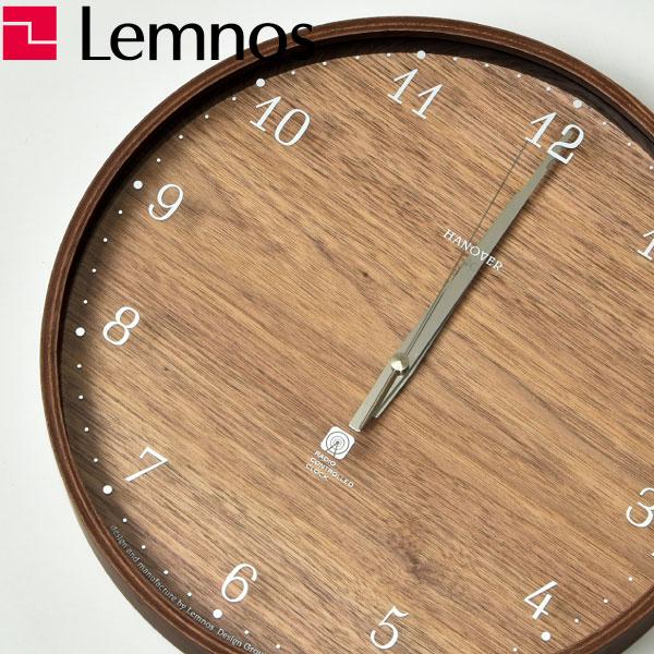掛け時計 【フック付き】 タカタレムノス Lemnos Brownie PC07-04L 掛時計 壁掛け時計 電波時計 おしゃれ インテリア雑貨 北欧テイスト アンティーク調 木製 デザイン リビング アメリカン レトロ かわいい 大型 モダン ウォールクロック ウッド ギフト