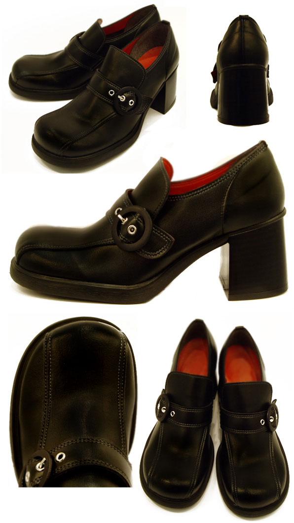 ★ ★ Belle-friendly Shoe Studio-round トゥカジュアルバックマニッシュベル bells shoes Kobe shoes koube / / Christmas / birthday gifts / gifts / celebrations