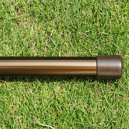 物干し竿 2.5m 2本セット 1本竿 普通の太さ30パイ×2.5m ブロンズ色 ステンレス竿にない美しい色 ものほし竿 洗濯ざお【日本製・国内自社工場製造】