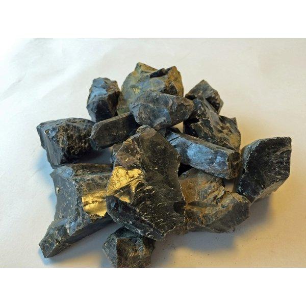 長野県和田峠産 黒曜石まとめて2Kg 岩石標本 石器材料