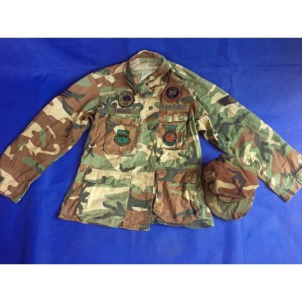 中古 沖縄米空軍 軍服 上着 本物 帽子 A4