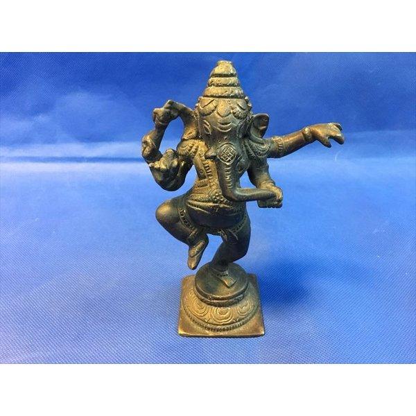 中古 ガネーシャ 金属製 ヒンドゥー教の神  a3