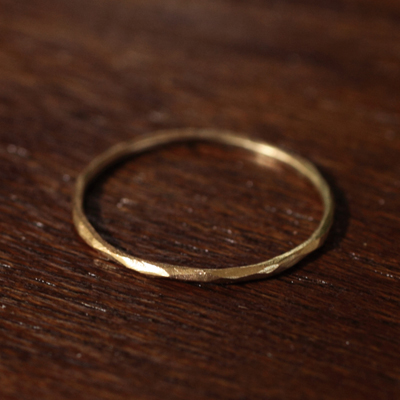 【受注販売】【送料無料】Laboratorium(ラボラトリウム)hand carving ring 10KYG#9/#13