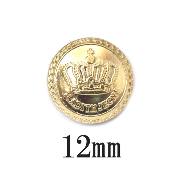 BT-825 crown motif gold button King U K  / king / coat / handicrafts /  jacket / antique / accessories