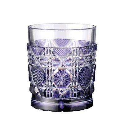 藩主 オンラインショップ 島津斉彬が愛した金紫色 送料無料 ロックグラス ギフト お祝い 誕生日 オールド お歳暮 金紫 グラス 薩摩切子 薩摩びーどろ工芸 800g