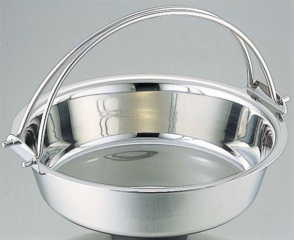 鍋 IH対応 ステンレス つる付 ちり鍋 33cm 【おすすめ商品】