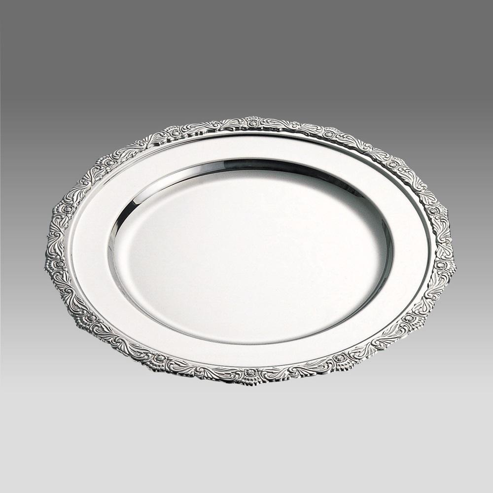 お皿 おしゃれ ステンレス 丸皿 ローズ 26